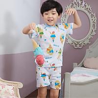Bộ ngủ cộc tay cho bé Olomimi Hàn Quốc Blue Ice Cream SS20 - 100% cotton