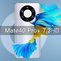 Mate40Pro+ Smartphone 7.3 inch Screen 12GB 512GB Mobile Phone Handphone 6000mAh Battery Fingerprint ID Smart Phone Dual sim Android 10.0