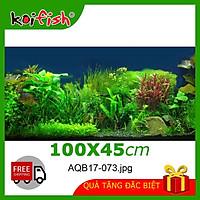 Tranh 3d Koifish - chịu nước, 100x45cm, cho hồ cá siêu nét, siêu đẹp,