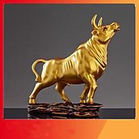 Tượng decor trâu vàng, tượng trang trí nội thất