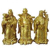 Bộ tượng đá Phúc Lộc Thọ vàng đại TDV37