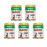 Bộ 5 Lon Sữa Nucalci Gold bổ sung canxi cho người từ 51 tuổi trở lên - 800g
