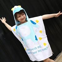 Khăn bơi hình bò xanh cho bé từ 2 đến 7 tuổi