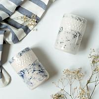 Ly / cốc vân đá men lam marble - Marble ceramic mug