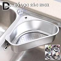 Rổ lọc rác bồn rửa chén ngăn tắc bồn rửa,không ghê tay | Khay lọc rác bồn rửa chất liệu INOX 304 siêu bền,chống hoen gỉ