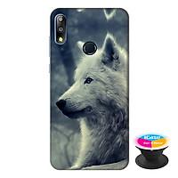 Ốp lưng điện thoại Asus Zenfone Max Pro M2 hình Chó Sói Mẫu 1 tặng kèm giá đỡ điện thoại iCase xinh xắn - Hàng chính hãng