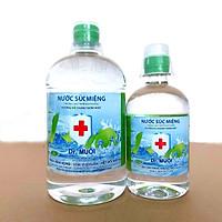 Combo Nước súc miệng Dr. Muối hương vỏ chanh (1 chai 1000ml + 1 chai 500ml)