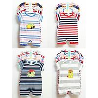 3 Bộ Body đùi liền quần cotton  bé 3 tháng - 2 tuổi( Màu ngẫu nhiên )