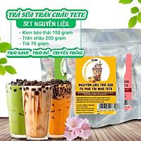 Set Nguyên Liệu Trà Sữa Tự Pha Tại  Nhà TETE  (Ra được 25-30 Ly)