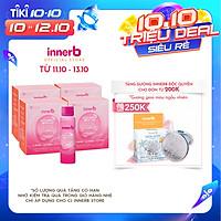 Combo 4 hộp nước uống Collagen Vitamin C sáng da InnerB Glowshot (50mlx6)