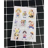 Hình Dán One Piece sticker set 6 bảng ( khoảng 60 miếng ảnh )