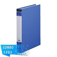 Combo 5 File đựng tài liệu A4S - 25mm - KING JIM 603BFGSV bìa còng nhẫn