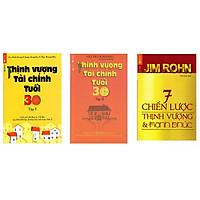 Combo 3 cuốn thinh vượng tài chính tuổi 30 và 7 chiến lược thịnh vượng và hạnh phúc tặng cuốn rèn luyện kĩ năng cho bé