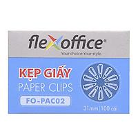 Hộp 10 Kẹp Giấy Flexoffice Fo-Pac02 (31mm)