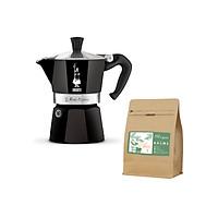 Combo ấm pha cà phê Bialetti Moka Express kèm gói cà phê Blagu Guru Blend 1 ( 250gr )