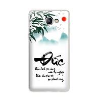 Ốp lưng dẻo cho điện thoại Samsung Galaxy A9/ A9 Pro - 01034 7932 DUC01 - in chữ thư pháp Đức - Hàng Chính Hãng