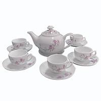 Bộ ấm tách Sứ Hải Dương - Bộ trà bầu Me kim - Bộ ấm tách 500 ml - Sử dụng gia đình