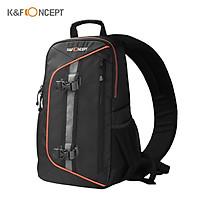 Balo máy ảnh kĩ thuật số DSLR K&F CONCEPT chống sốc chống nước cao cấp với bộ vệ sinh len tặng kèm