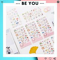 Bộ 6 Sticker Dán Nhiều Họa Tiết Hình Ảnh Dễ Thương (6 Trang - Mỗi trang với kiểu khác nhau)