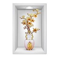 Tranh dán tường Bình hoa 3D 012 KT 40 x 60 cm
