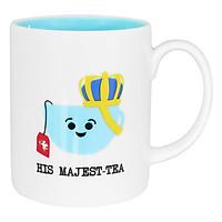 Ly sứ cao cấp Dong Hwa họa tiết Majest MC001 - tea xanh dương (300ml)