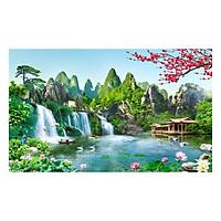 Tranh Dán Tường Sơn Thủy 3D ST0224