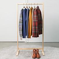 Giá Treo Quần Áo Gỗ Thanh Đơn Single Hanger Size S Nội Thất Kiểu Hàn BEYOURs - Gỗ Tự Nhiên