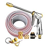 Bộ dây vòi xịt nước rửa xe,tưới cây đa năng,tăng áp 3 lần,loại 7m,10m 206701-2 đầu đồng,cút đồng+ tặng móc khoá