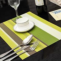 Combo 2 tấm lót chén đĩa bàn ăn sz 30x45cm - Tấm lót bàn ăn phong cách châu Âu Jossi NX-9010