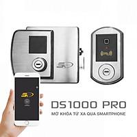 Khóa vân tay wifi chuyên dùng cho cửa sắt, cửa cổng nhà trọ 5A DS1000 PRO