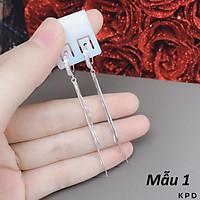 Bông tai nữ bạc Ý tua dài MS115