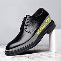 Giày da giày da nam cao cấp độn đế / giày tăng chiều cao mã 36800-G đế cao 6cm