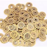 Combo 30 Đồng Xu Cổ Phong Thủy Âm Dương Bằng Đồng Kim Tiền Jewelry - Đường Kính 2,4 cm - Tặng Kèm Túi Gấm Đỏ