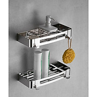 Kệ Nhà Tắm INOX SUS304, Kệ Chữ Nhật Đề Đồ Phòng Tắm, Giá Để Đồ Gia Vị Nhà Bếp - CNSU304