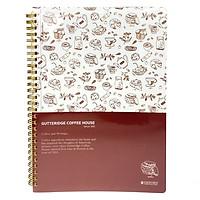 Sổ Lò Xo Oxford Design B5 80'S #7 Coffee (PP+AB+CB) - ASN40607 - Màu Nâu