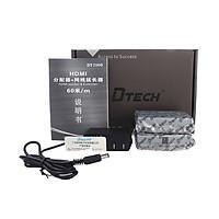 Bộ nối dài  HDMI 50/60M qua cáp mạng lan Dtech DT-7009C - Hàng Chính Hãng