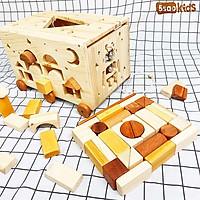 Hộp thả hình khối bằng gỗ
