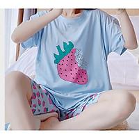 Bộ đồ bầu mùa hè mặc nhà, đồ bộ ngắn sau sinh cho con bú ti mùa hè mặc nhà LINK 1