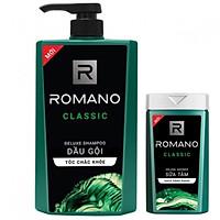 Dầu gội Cho nam Romano Classic 650ml tặng sữa tắm 150ml