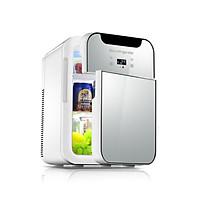 Tủ lạnh mini 20L hai chiều nóng lạnh sử dụng trên ô tô, gia đình, tủ lạnh mini đựng mỹ phẩm cao cấp - Hàng chính hãng