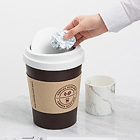 Thùng Rác Mini Hình Ly Cafe