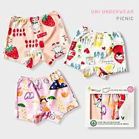 Set 3 quần chip đùi cho bé gái U6004 - Unifriend Hàn Quốc, Cotton Organic
