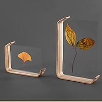 [SIÊU ĐẸP] Khung ảnh để bàn, khung hình để bàn làm việc NGHỆ THUẬT mặt acrylic kích thước 16.7x12.3x3.6cm - Bảo Hành Gãy, Vỡ