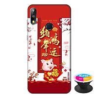 Ốp lưng điện thoại Asus Zenfone Max Pro M2 hình Heo Xuân Chúc Tết tặng kèm giá đỡ điện thoại iCase xinh xắn - Hàng chính hãng