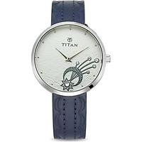 Đồng hồ đeo tay hiệu Titan 95083SL01; kèm bộ trang sức gồm 4 bông tai và hộp