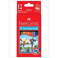 Faber-Castell-114461-Chì Màu Nước Parrot - 12 Màu Ngắn