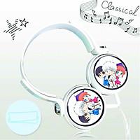 Tai nghe chụp in hình Gintama - Linh Hồn Bạc anime chibi cắm dây có mic