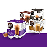 Combo 3 Hộp Espresso, Cappuccino, Aulait Nescafe Dolce Gusto (48 viên) - Tặng 1 Hộp Mocha Nescafe Dolce Gusto (16 Viên)