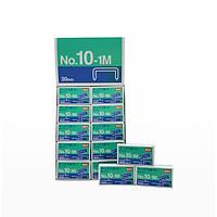 Set 20 hộp đinh ghim Max No.10 1M Malaysia - Ghim phẳng, số 10 tiêu chuẩn, dễ sử dụng, độ bền cao