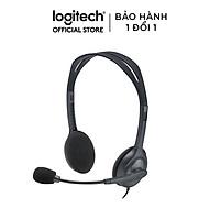 Tai Nghe Chụp Tai Logitech H111 - Hàng Chính Hãng